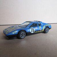 178F Burago 4133 Ferrari 512 BB # 75 Bleu 1:43