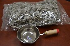1 POUND CALIFORNIA WHITE SAGE CLUSTER HERB INCENSE WITH BURNER POT #T-713B