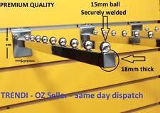 24 Slatwall Garment clothing Hanger Rack Arm hook 9 Ball Retail Shop Display