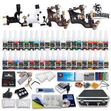 New Professional Rotary Tattoo Machine Kit Equipment 4 Gun Power Supply 40 Inks