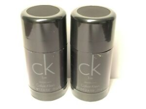 Lot of 2 CK Be by Calvin Klein 2.6 oz/75G Deodorant Stick Men, Alcohol Free