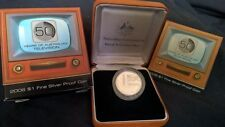 2006 ONE DOLLAR SILVER PROOF -*50 YEARS OF T.V* - STERLING SILVER