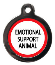 Emotional Support Animal Dog Cat Name Tags Medical Tags Pet ID Tag Engraved Free