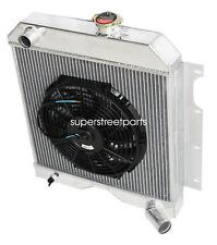 "3Row Performance RADIATOR+12""Fan for 56-64 Jeep Utility Wagon/6-226 3.7L L-head"