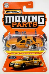 2021 Matchbox Moving Parts #19 2006 Ford Crown Victoria Taxi AMBER ORANGE / MOC