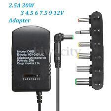 Universal AC DC Adapter Converter 3 4.5 6V 7.5V 9V 12V Power Supply Charger 2.5A