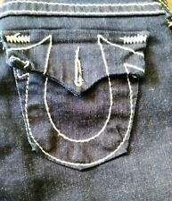 $299 NEW True Religion Womens Juniors Jeans Size 26 Boot-Cut Dark Wash Low Rise