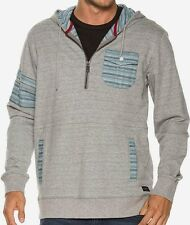 O'NEILL Men's DOUBLE UP Pullover Hoodie - GRY - Medium - NWT