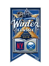 2018 NHL WINTER CLASSIC BANNER PIN NEW YORK RANGERS VS BUFFALO SABRES 1/1