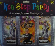 Non stop PARTY ACTION MAN 180 Tatuaggi Temporanei piccola parte. IDEALE per Loot Bags