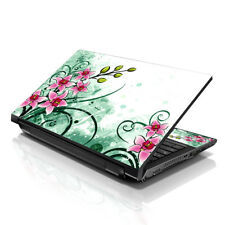 "13.3"" 15.6"" 16"" Laptop Skin Sticker Notebook Decal Pink Flower Floral M-A09"
