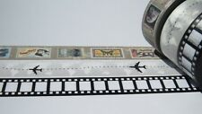 3 Roll Retro Travel Vacation Holidays Washi Tape Set