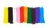Pipe Cleaners Craft Acrylic Chenille Stems 15mm Assorted Colours x 100