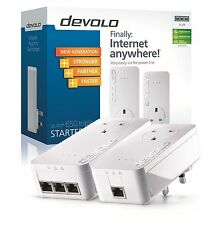 9238 DEVOLO Powerline dLAN 650 AV TRIPLE + PLUS passano attraverso Starter Kit, 3 porte