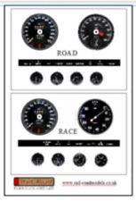 Replacement gauges for 1/8 scale DeAgostini E Type Jaguar partwork