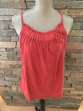 NWT BCBG Max Azria Knit Top - Cotton - Red - Coral - Large