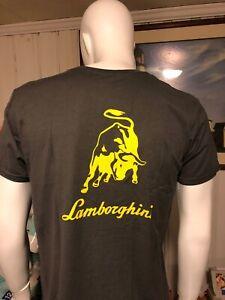 Men-Lambo-Gray-Grey-Raging-Bull-T-Shirt With Free Shipping
