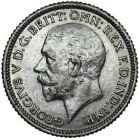 1929 SIXPENCE - GEORGE V BRITISH SILVER COIN - NICE