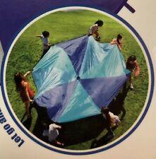 6 ft Kids BLUE Play Parachute Outdoor Indoor Children's Activity Game Sport