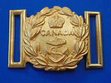 WW2 KC Royal Canadian Navy dress uniform gilt brass belt buckle SCULLY Montreal