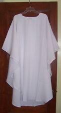 Plain White Wedding Chasuble Robe / Vestment minister interfaith Clergy Priest
