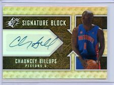 CHAUNCEY BILLUPS AUTO 2008-09 SPx SIGNATURE BLOCK CARD # SB-CB