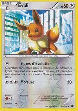 Carte Pokemon Evoli 60 pv Noir et Blanc Glaciation Plasma x 2 !!!