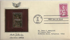 2 DIFFERENT BABE ZAHARIAS FIRST DAY OF ISSUE ENVELOPES 1981