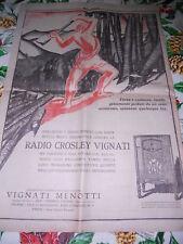 FONTANA pagina pubblicitaria RADIO CROSLEY VIGNATI