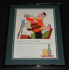 1959 Seven Up 7 Up Highballs 11x14 Framed ORIGINAL Vintage Advertisement