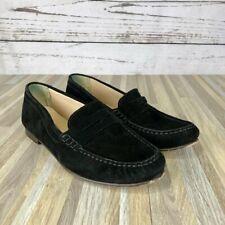 J. Crew Black Suede James Loafer Shoes Size 8.5