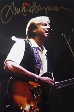 JUSTIN HAYWARD OF MOODY BLUES original hand signed mounted photo 12 x 8 inches
