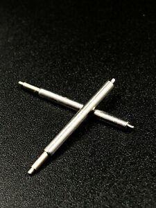 2 barettes pompes ressorts corne pour montre bracelet cuir et metalique 13à36 mm