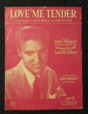 1956 LOVE ME TENDER Sheet Music VG 4.0 Elvis Presley 4pgs RCA Victor
