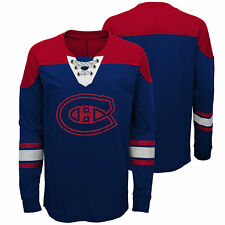 Montreal Canadiens Perennial Long Sleeve Crew Jersey Shirt Top Youth Kids