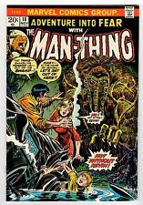 Marvel Adventure Into Fear #18 With Man-Thing 1973 Vf/Nm Vintage Comic