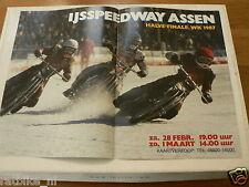 A251-IJSSPEEDWAY ASSEN WK 1987 HALVE FINALE ICE SPEEDWAY MOTO POSTER 28-2-1-3