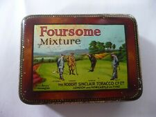 1930's Foursome Mixture Famous Golfers Tobacco Tin By Robert Sinclair