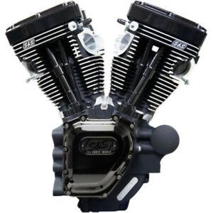 "S&S T143 143"" Black Edition Long Block Engine Motor Harley 96-103 Twin Cam 07-16"