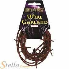 3.7m Rusty Barbed Wire Garland Halloween Fancy Dress Party Costume Decoration