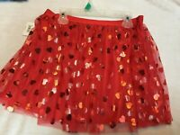 Celebrate Christmas 2 T Mesh Tutu Skater Skirt Red Spark Girls  Hearts /&