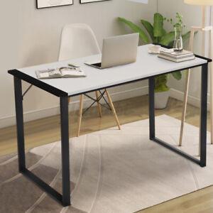 "47"" Computer Espresso Style Writing Desk Modern Study Office Desk Corne US"