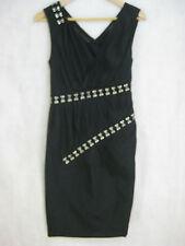 Thakoon Size 2 8 Black cocktail or party cotton & Silk designer dress