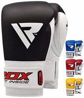 RDX Boxhandschuhe Boxen Leder Handschuhe MMA Training Boxing Gloves Muay Thai DE