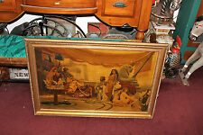 Antique S. Fiordimalva Signed Oil Painting-Slave Women Sold To Egyptian King-'35