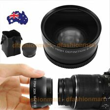 2 in 1 58mm Digital High Definition 0.45X Super Wide Angle Lens Macro For Canon