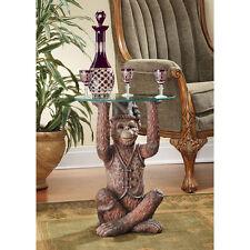 Mischievous Moroccan Monkey Business Resin Sculptural Home Garden Side Table