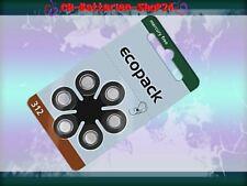 66 x Varta Ecopack Hörgerätebatterien Hörgeräte Batterien PR41 Zinc-Air 312