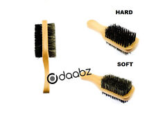 100 % BOAR REINFORCED BRISTLE HARD & SOFT BEARD BRUSH FOR HAIR & GROOMING MEDIUM