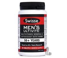 AU SELLER Swisse Men's Ultivite 50+Multi Vitamin 90 Tablets 3 Month Supply